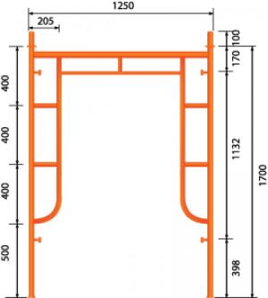 GG Khung 1.7m - Có Đầu Nối