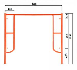 GG Khung 1.2m - Không Đầu Nối