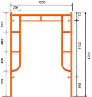 GG Khung 1.7m - Không Đầu Nối