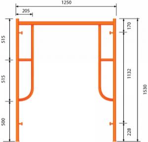 GG Khung 1.53m - Không Đầu Nối